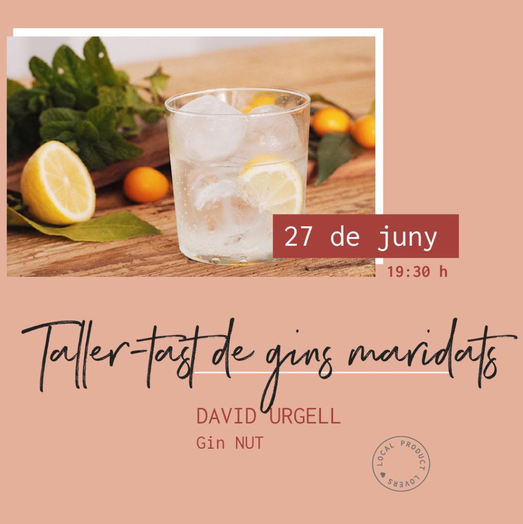 Taller-tast de gins maridats Gin NUT abricoc